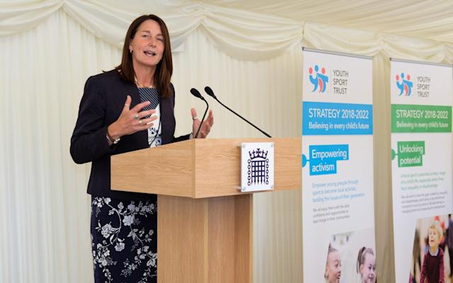 Alison Oliver speaking about the School Sport and Activity Action Plan