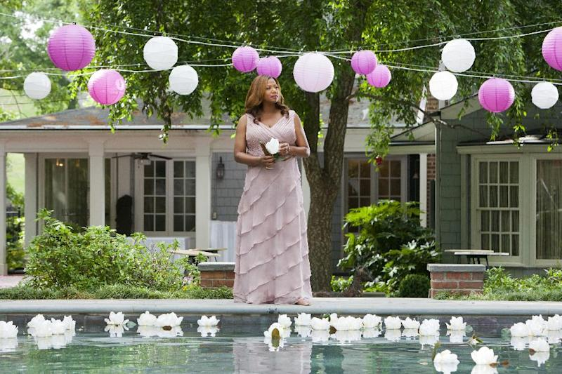 "This undated image released by Lifetime shows Queen Latifah as M'Lynn in a scene from the Lifetime Original Movie, ""Steel Magnolias,"" premiering Sunday, Oct. 7, at 9pm on Lifetime. (AP Photo/Lifetime, Annette Brown)"