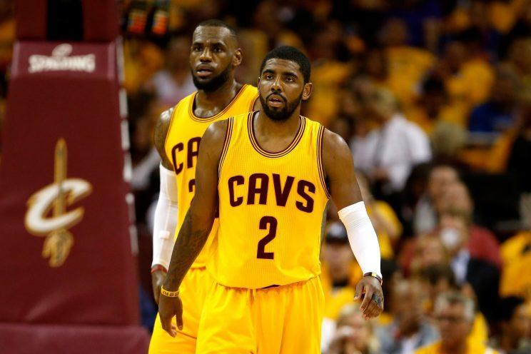 There seems to be a disconnect between LeBron James and Kyrie Irving. (Getty)