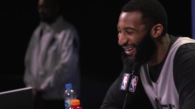 The HOLDAT Podcasts' Nate Robinson and Carlos Boozer talk with Pistons All-Star Andre Drummond about his nickname and post-dunk catchphrases at NBA All-Star media day.
