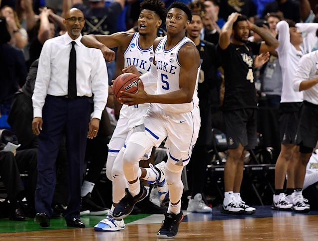 Officials didn't cut R.J. Barrett or the Blue Devils a break in their victory over UCF. (Getty)