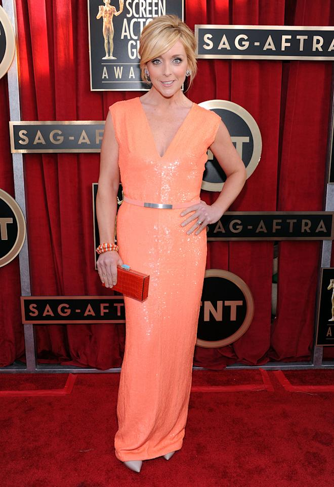 Jane Krakowski arrives at the 19th Annual Screen Actors Guild Awards at the Shrine Auditorium in Los Angeles, CA on January 27, 2013.