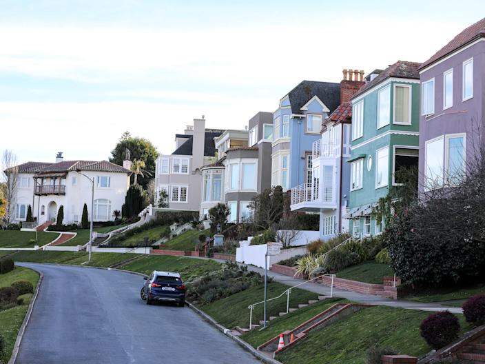 Homes along Lake Street in Sea Cliff.