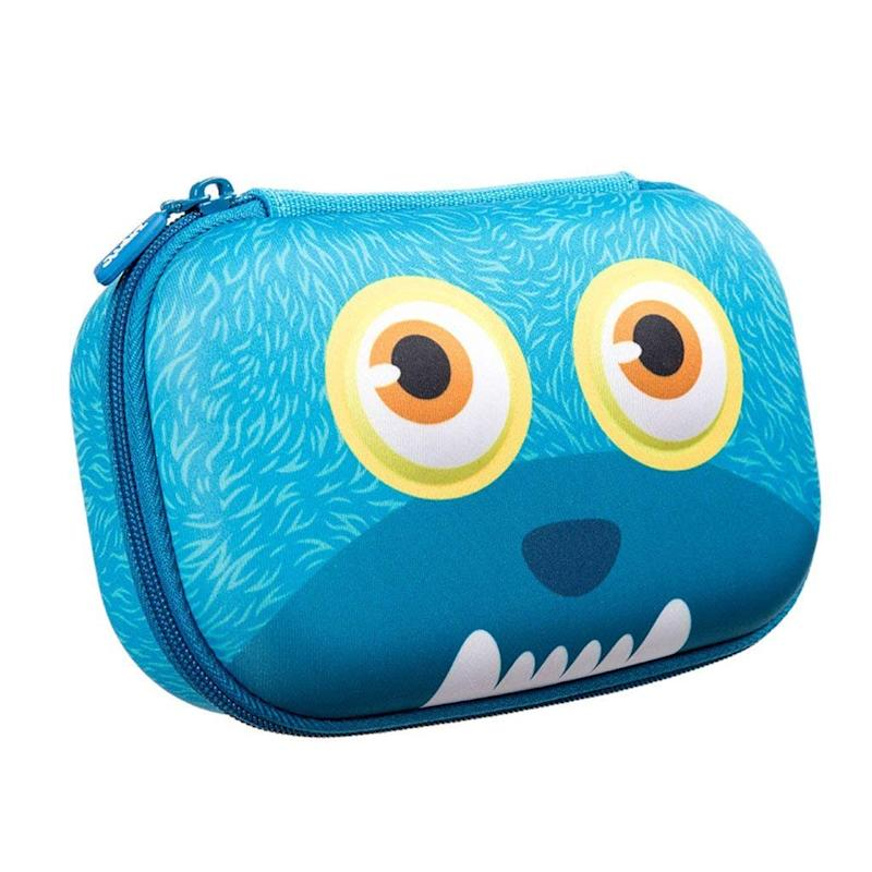 ZIPIT Wildlings Pencil Case/Pencil Box/Storage Box, Blue by Zipit
