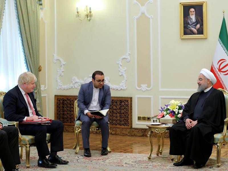 The Foreign Secretary met Iranian President Hassan Rouhani in Tehran on Sunday: AFP/Getty
