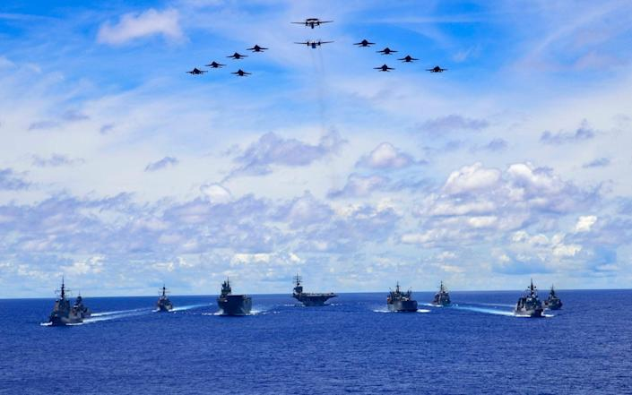 A defence training exercise in the Philippine Sea - @DeptDefence