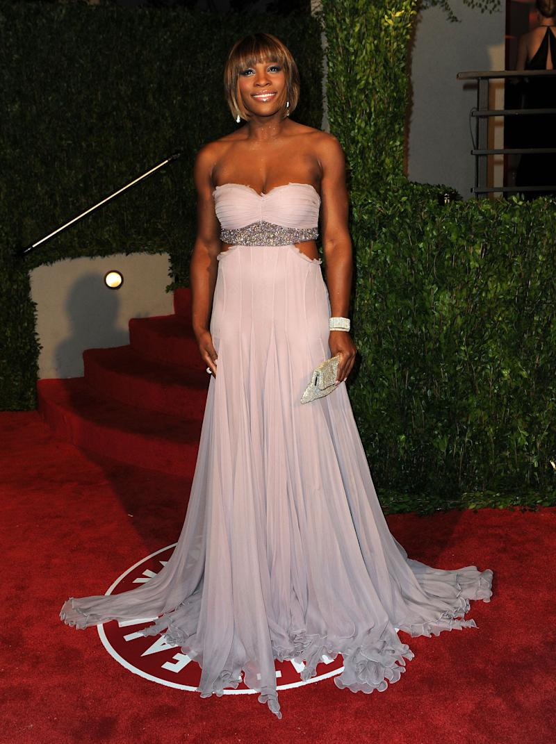 Arriving at the 2010 Vanity Fair Oscar Party hosted by Graydon Carteron March 7, 2010, in West Hollywood, California.