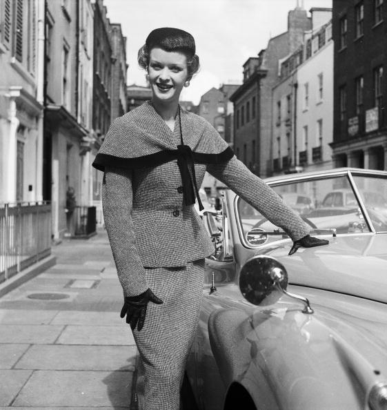 <p>The skirt suit is slowly evolving with the addition of a cape, an early source of style inspiration for the countless celebs who wear capes.</p>