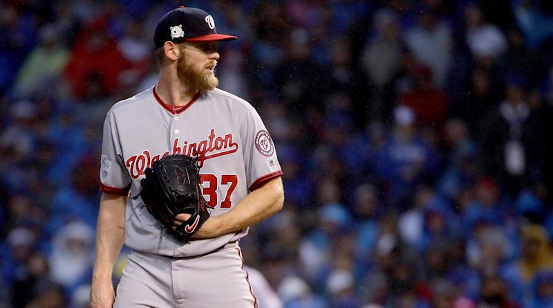 Stephen Strasburg finally had a great season in the big leagues and is a Cy Young finalist for it. (AP)
