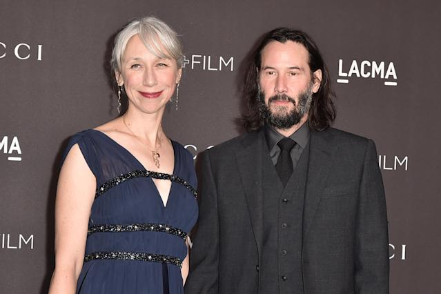 Alexandra Grant y Keanu Reeves. (Foto: David Crotty / Patrick McMullan / Getty Images).