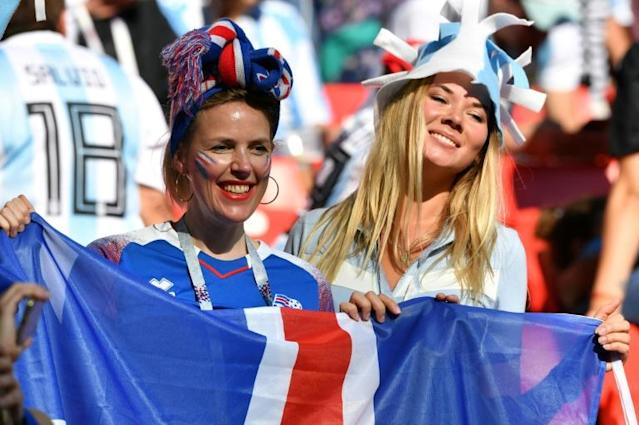 Iceland fans saw their side draw 1-1 with Argentina at the World Cup in Russia