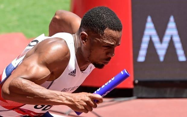 Britain's CJ Ujah, who competed in the men's 4x100-metre relay event, tested positive for a banned substance, leaving his team's Olympic silver medal in question. (Javier Soriano/AFP via Getty Images - image credit)