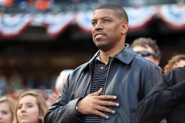 SAN FRANCISCO, CA - OCTOBER 24: Sacramento Mayor, Kevin Johnson looks on prior to Game One between the San Francisco Giants and the Detroit Tigers in the Major League Baseball World Series at AT&T Park on October 24, 2012 in San Francisco, California. (Photo by Doug Pensinger/Getty Images)