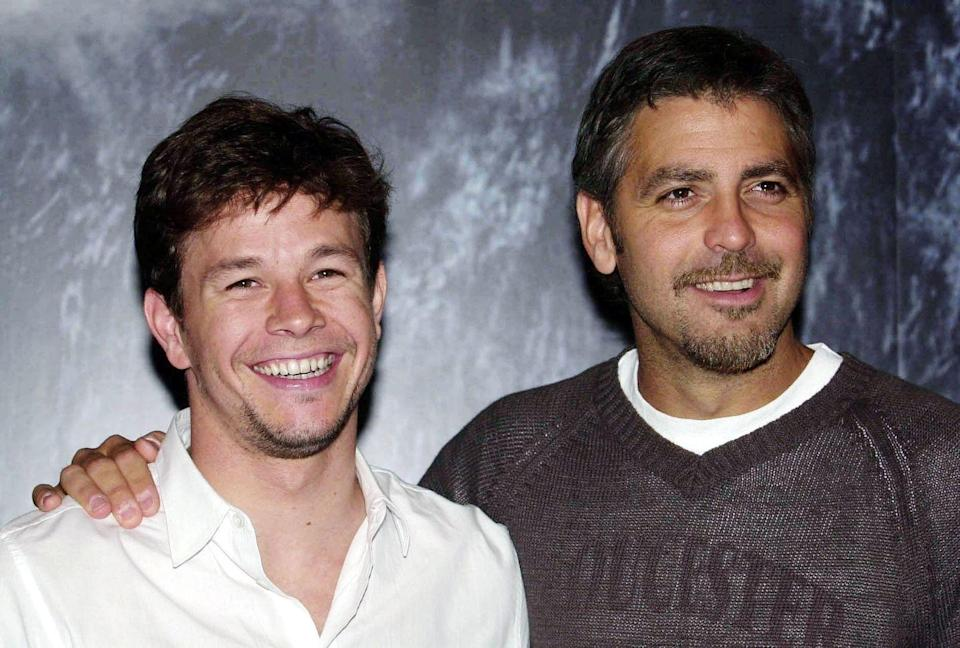 <p>Mark Wahlberg and Clooney attending the UK premiere of <em>The Perfect Storm</em>, at the Warner Village cinemas, Star City, Birmingham.</p>