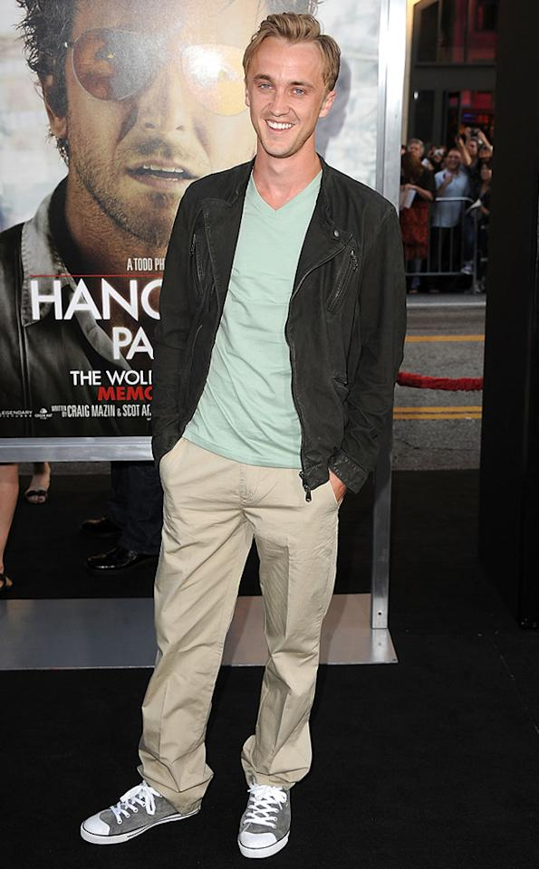 """<a href=""""http://movies.yahoo.com/movie/contributor/1800308596"""">Tom Felton</a> attends the Los Angeles premiere of <a href=""""http://movies.yahoo.com/movie/1810187722/info"""">The Hangover Part II</a> on May 19, 2011."""