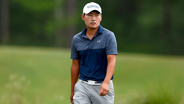 South Korean Sung Kang remains in control of the Houston Open, but Rickie Fowler is lurking.