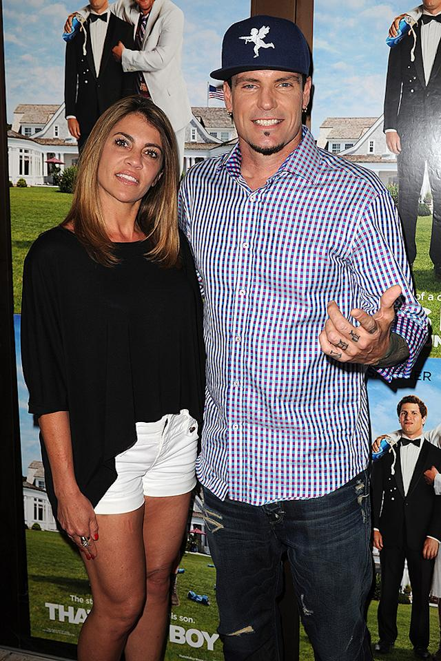 "WEST PALM BEACH, FL - JUNE 11: Vanilla Ice and his wife Laura Giaritta attend the screening of ""That's My Boy"" on June 11, 2012 in West Palm Beach, Florida. (Photo by Larry Marano/Getty Images for Allied THA)"