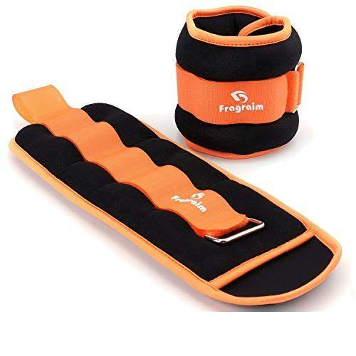 """<p><strong>Fragraim</strong></p><p>amazon.com</p><p><strong>$26.99</strong></p><p><a href=""""https://www.amazon.com/dp/B07F1WJDZH?tag=syn-yahoo-20&ascsubtag=%5Bartid%7C2141.g.35862955%5Bsrc%7Cyahoo-us"""" rel=""""nofollow noopener"""" target=""""_blank"""" data-ylk=""""slk:Shop Now"""" class=""""link rapid-noclick-resp"""">Shop Now</a></p><p><strong>Available in 1 to 7.5-pound increments</strong>, these ankle weights are a simple, no-fuss pick. """"They're also affordable and come in fun colors,"""" says Studdert. If orange isn't your style, choose from green, purple, black, grey, royal blue, or sky blue.</p>"""