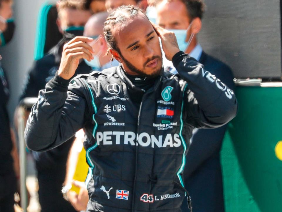 Lewis Hamilton in under investigation for two rule breaches in qualifying for the Austrian Grand Prix: AFP via Getty
