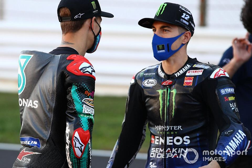 "Fabio Quartararo, Petronas Yamaha SRT, Maverick Viñales, Yamaha Factory Racing<span class=""copyright"">Gold and Goose / Motorsport Images</span>"