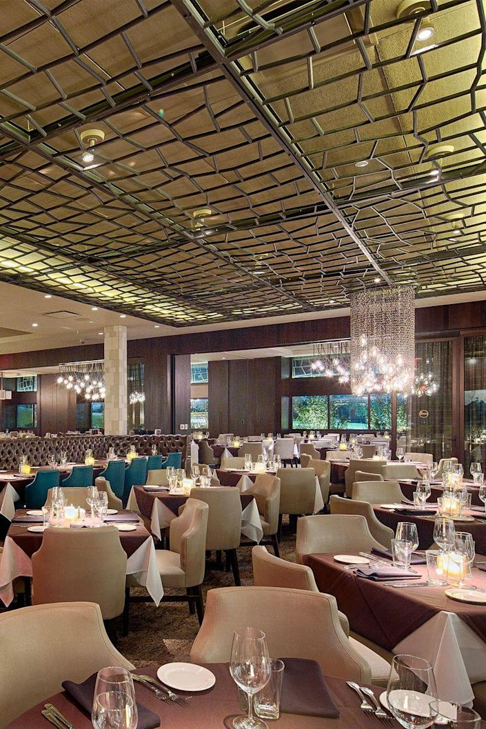 """<p><strong>Birmingham, Alabama</strong></p><p>Make the dining room at <strong><a href=""""https://perryssteakhouse.com/locations/al/birmingham/summit-area/"""" rel=""""nofollow noopener"""" target=""""_blank"""" data-ylk=""""slk:Perry's"""" class=""""link rapid-noclick-resp"""">Perry's</a></strong> the venue for your next big date night. Alabama residents and visitors alike can't get enough of the decadent menu and ambience. Dive into a bowl of au gratin potatoes or enjoy a lobster tail at this go-to for special occasions. </p>"""