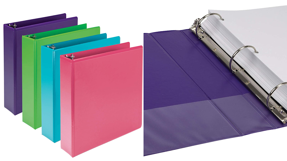 A good binder is a must for kids with lots of papers.