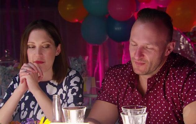 Matt and Elyse cringe their way through the rest of the conversation. Source: Channel Seven