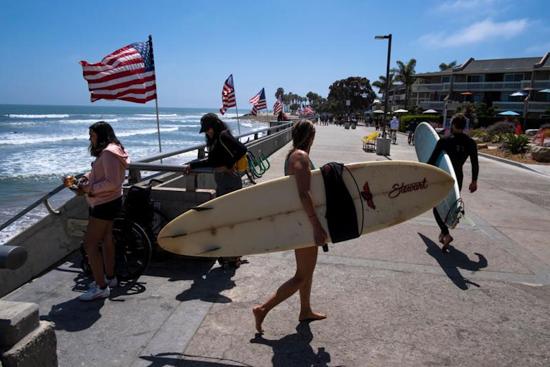 Surfers are seen at Ventura Beach. Source: Getty Images