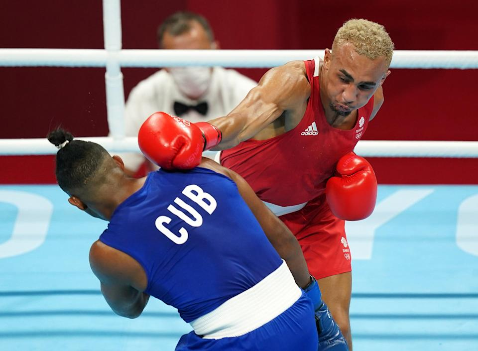 Benjamin Whittaker, right, took silver in the final bout (Mike Egerton/PA) (PA Wire)
