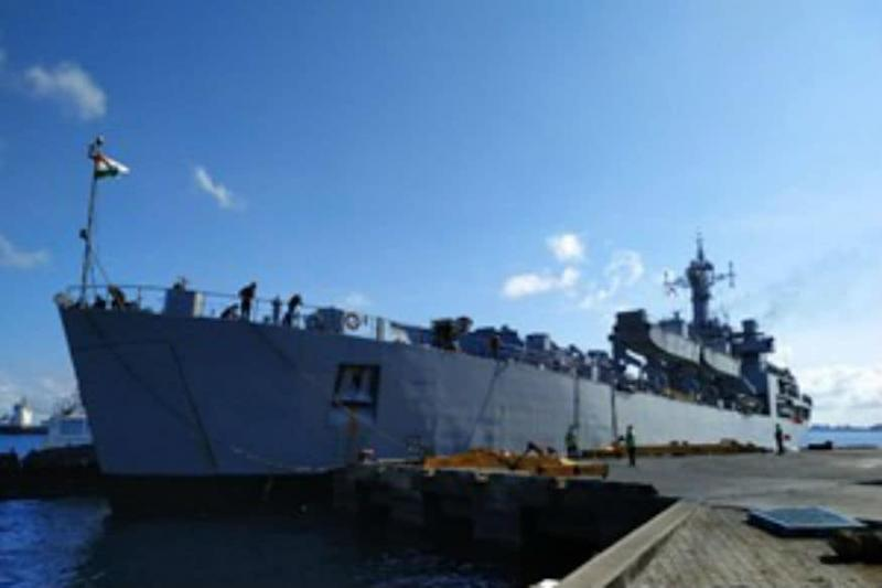 INS Kesari Carrying Medicines, Doctors Reaches Mauritius to Help Country Fight Against Covid-19