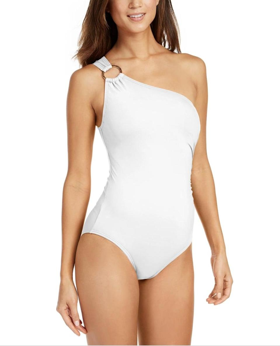 <p><span>Michael Kors Embellished One-Shoulder Underwire One-Piece Swimsuit</span> ($65, originally $102 (with code FOURTH))</p>