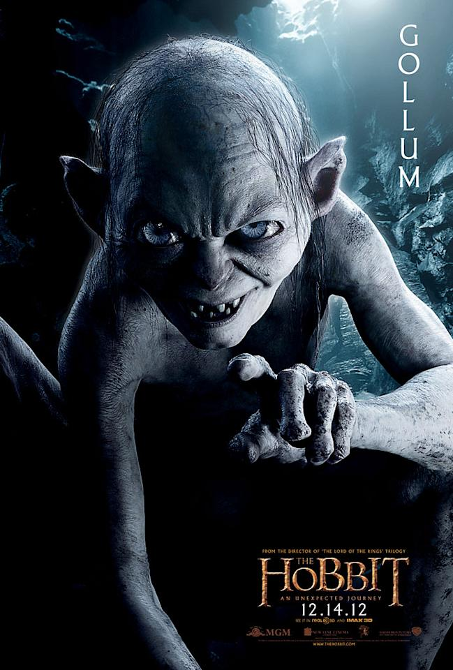 "Andy Serkis as Gollum in New Line Cinema's ""The Hobbit: An Unexpected Journey"" - 2012"