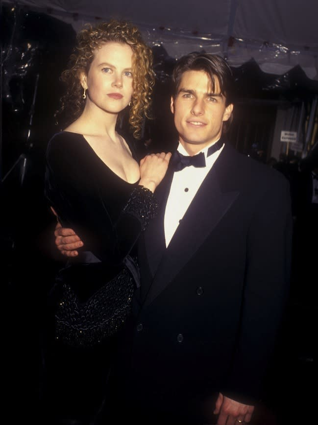 At the 1991 63rd Annual Academy Awards with Tom Cruise