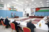Palestinian President Mahmoud Abbas chairs a meeting of Fatah's Central Committee in Ramallah, in the Israeli-occupied West Bank
