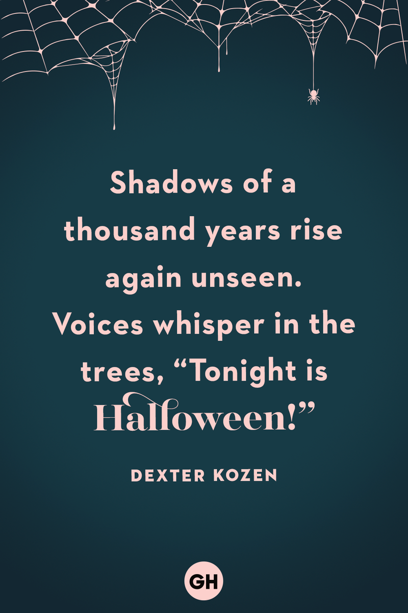 """<p>Shadows of a thousand years rise again unseen. Voices whisper in the trees, """"Tonight is Halloween!""""</p>"""