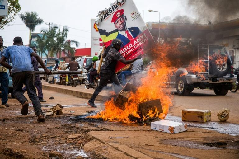Violence erupted after the arrest of opposition leader Bobi Wine, President Yoweri Museveni's main opponent in January's election