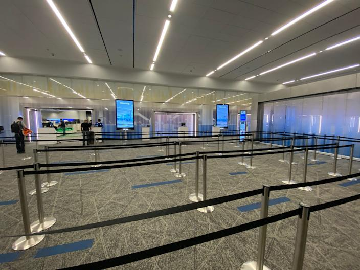 Flying out of the new LaGuardia Airport Terminal B.