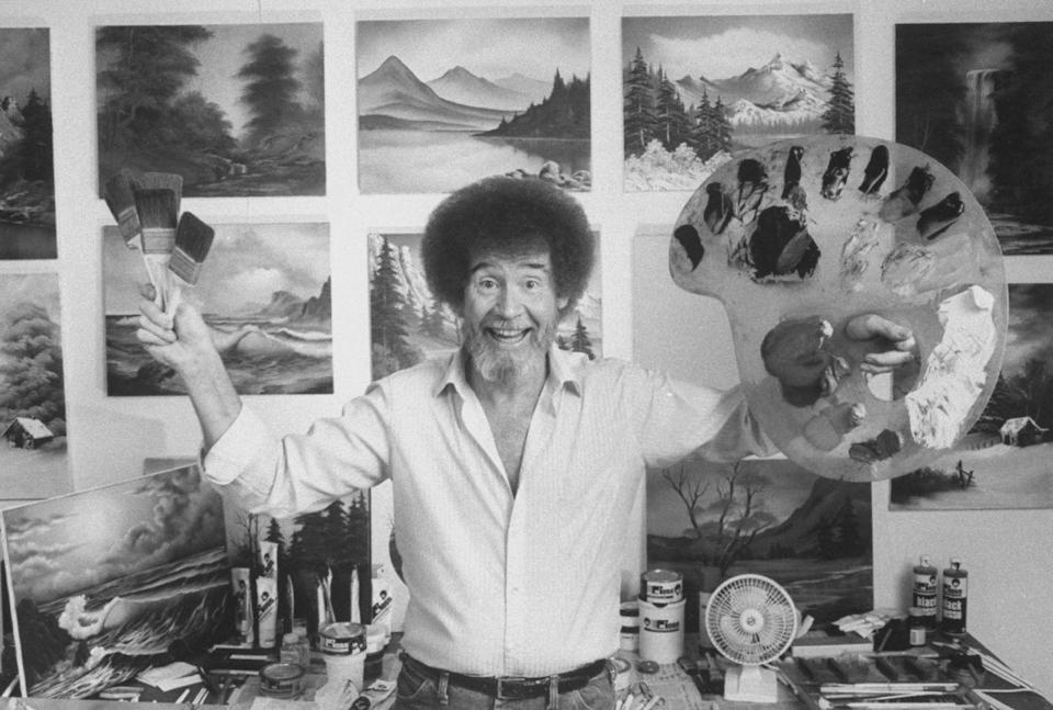 <p>If you've got the hair for it, you're about one art palette and a denim shirt shy of the perfect throwback costume. The beloved painter is basically the physical manifestation of an ASMR video, and who's not into that?</p>