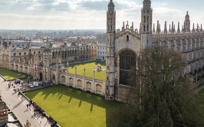 Cambridge University (King's College Chapel) Top View - Getty Images
