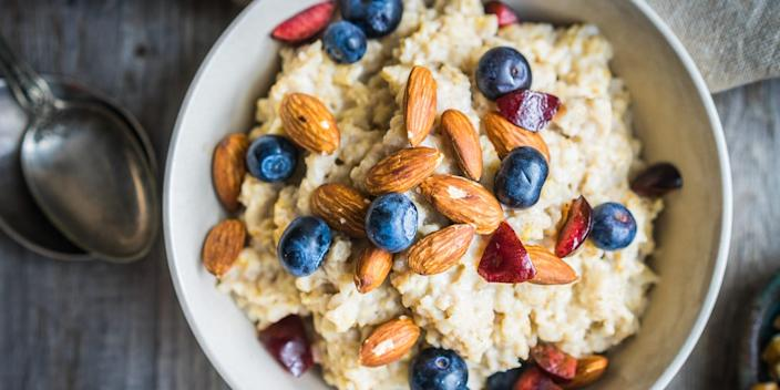 Oatmeal with fruit and nuts is one of the best foods to lower blood sugar.