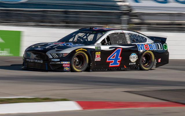 Kevin Harvick may not have any wins in 2019 but he's replicating his 2018 pretty nicely. (AP Photo/Matt Bell)
