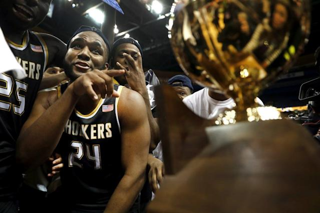 Wichita State won the Valley tournament in its final year in the league. (AP)