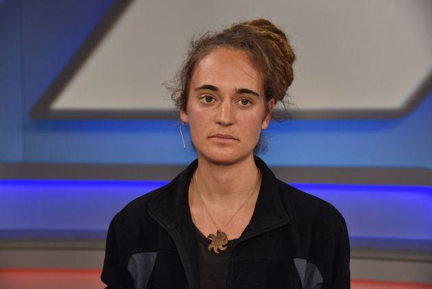 06 November 2019, North Rhine-Westphalia, Cologne: The activist Carola Rackete became known as a captain and refugee helper on Sea Watch, as a guest on the ARD talk show Maischberger. The week Photo: Horst Galuschka/dpa/Horst Galuschka dpa (Photo by Horst Galuschka/picture alliance via Getty Images)
