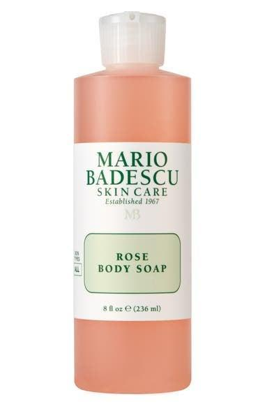 <p>Add a dash of floral goodness to your shower routine with the <span>Mario Badescu Rose Body Soap</span> ($8).</p>