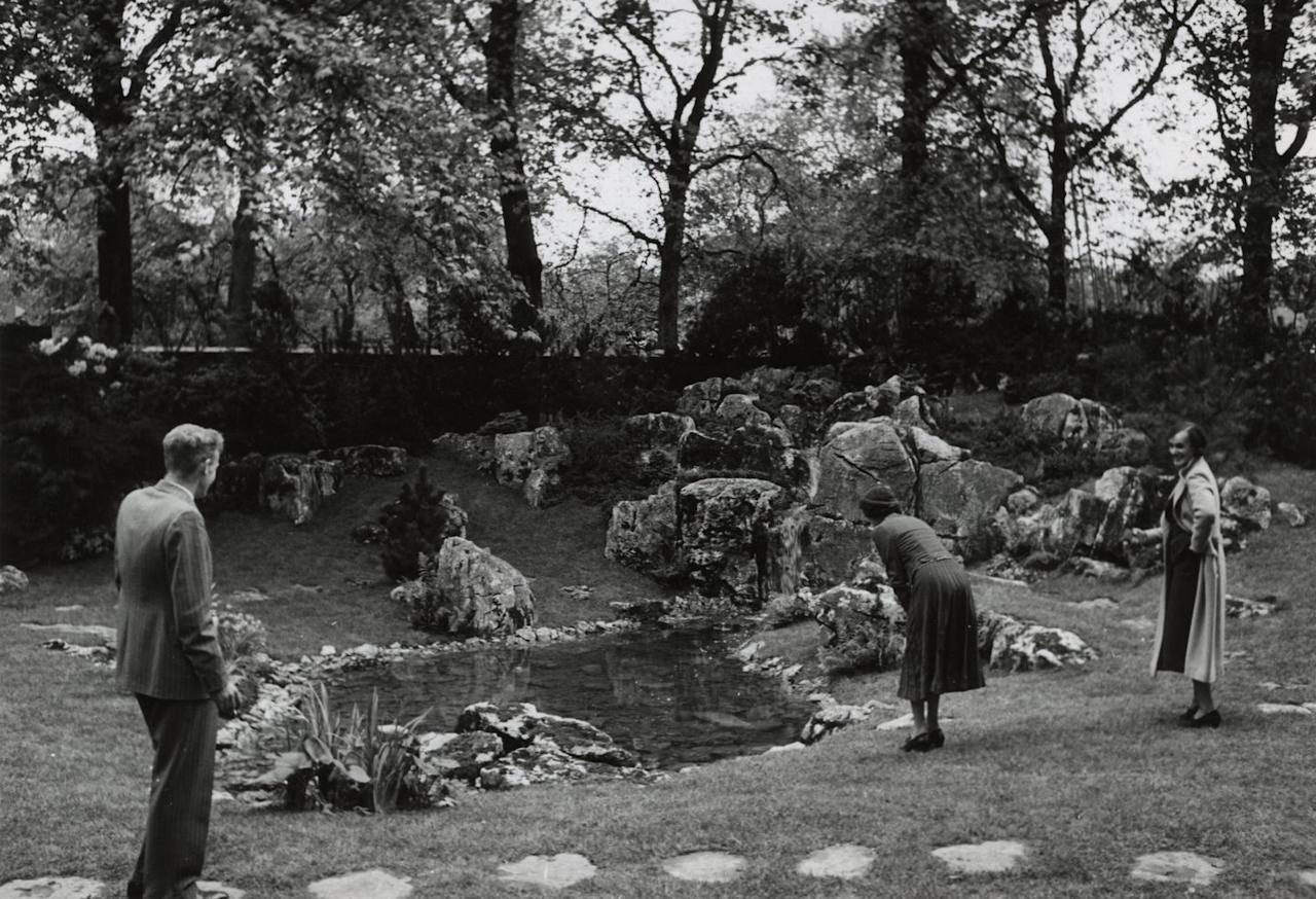 <p>A rock garden was the first type of Show Garden to appear at Chelsea in the 1920s. Between the two world wars, rock gardens were probably the most popular feature of the show, drawing large crowds. In 1980, there were only eight Show Gardens at Chelsea. This had more than doubled by 1985. </p><p>(Pictured: Rock garden at the RHS Chelsea Flower Show. Date: 1938).</p>