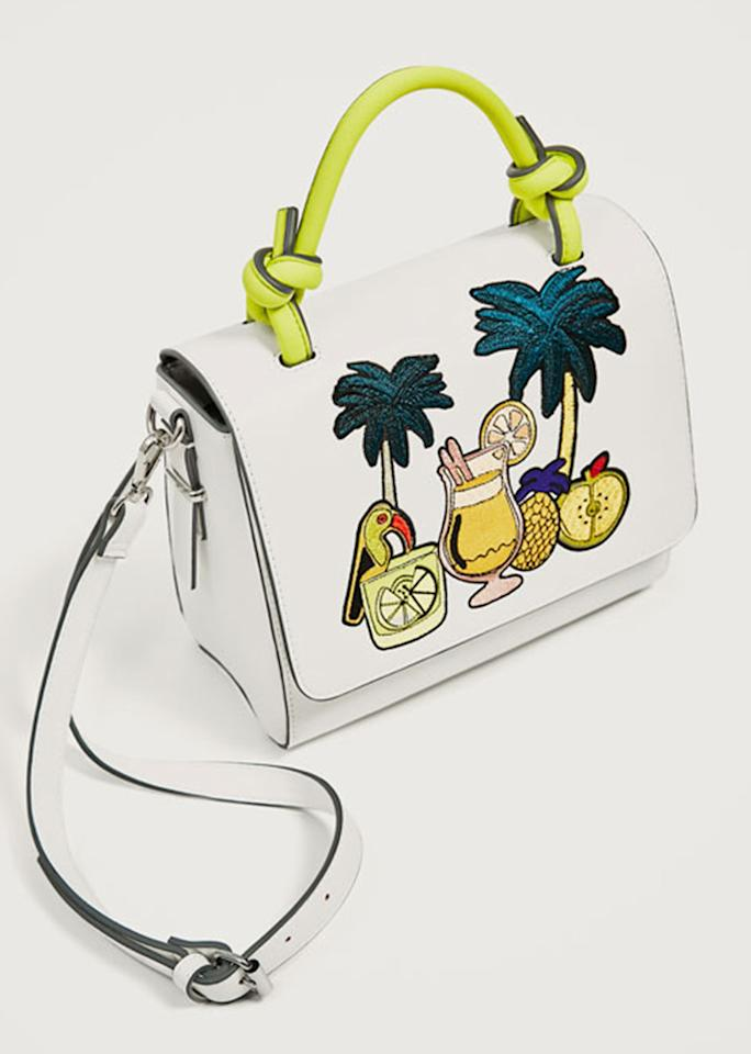 "Embroidered Tropical City Bag, $49.90; at <a rel=""nofollow"" href=""http://www.zara.com/us/en/woman/bags/view-all/embroidered-tropical-city-bag-c819022p4065332.html"">Zara</a>"