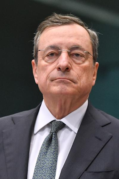 'Good luck stepping into his shoes', a European source said of 71-year-old Mario Draghi (AFP Photo/EMMANUEL DUNAND)
