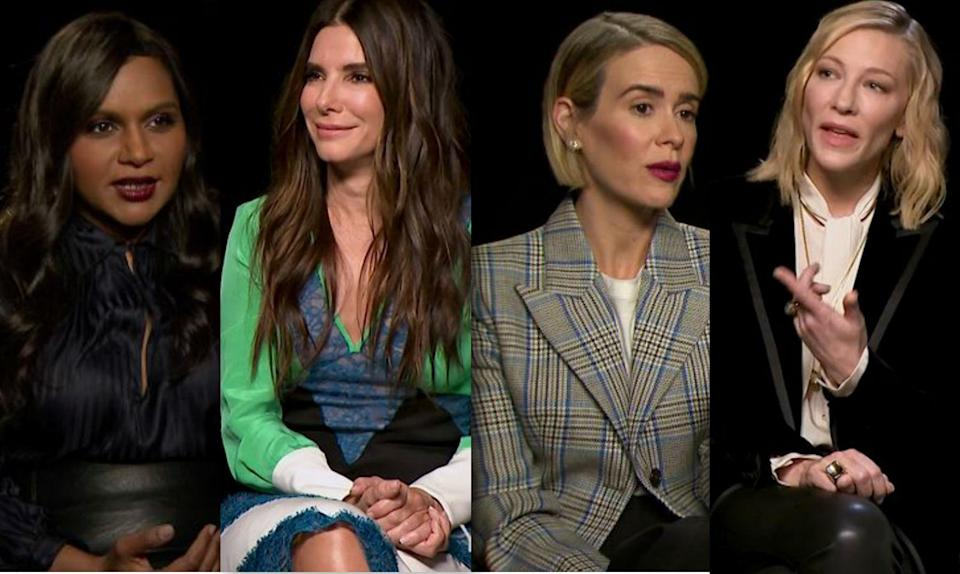 Ocean's 8 cast have their say on the dominance of white male critics