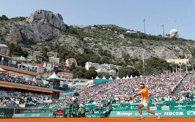 """After surging through his opening match in Monte Carlo in commanding style, world No 1 Rafael Nadal told reporters that he cannot see himself skipping whole sections of the tennis calendar in the manner of his old rival Roger Federer. Nadal needed only 78 minutes to subdue Aljaz Bedene by a 6-1, 6-3 scoreline and earn a third-round meeting with the dynamic young Russian Karen Khachanov. But the talking point afterwards was the scheduling decision which has denied Nadal the prospect of facing Federer on clay this season. Asked if he would ever perform a similar manoeuvre to Federer, who plans to return to the tour on the grass of Stuttgart, Nadal replied """"It is not in my plan, but I can't say 'never' because I cannot predict what's going to be in the future. When you get older, you need to adjust a little bit more the efforts and the calendar. But for me it is difficult to say I'm not going to play, for example, grass, or I'm not going to play hard. """"There are tournaments that I can't imagine missing on purpose, because it is the tournaments that I love to play. So I don't see myself missing Monte Carlo on purpose. I don't see myself missing Wimbledon on purpose, or the US Open, or the Australian, or Rome."""" In the previous match on Court Rainier III, Novak Djokovic had become a little shaky in the final stages of his 7-6, 7-5 victory over Croatia's Borna Coric. Still short of matchplay after the elbow operation that restricted the first part of his season, Djokovic needed no fewer than ten match points to get over the line. Novak Djokovic needed 10 match points before finally wrapping up his win over Borna Coric Credit: Getty Images Overall, though, he seems to be gathering momentum ahead of tomorrow's third-round meeting with Dominic Thiem, the man who delivered one of the most chastening defeats of his career at last year's French Open. """"He's got it all, the entire game for clay,"""" said Djokovic of Thiem, who concluded that beat-down in June last year by inflicting """