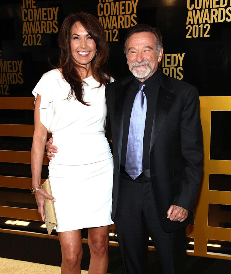 Susan Schneider and Robin Williams attend The Comedy Awards 2012 at Hammerstein Ballroom on April 28, 2012 in New York City.